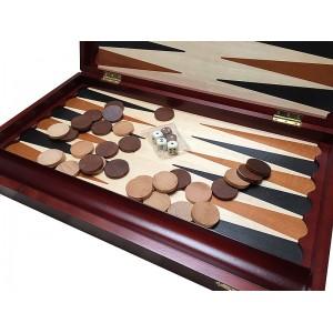 Joc table/backgammon din lemn